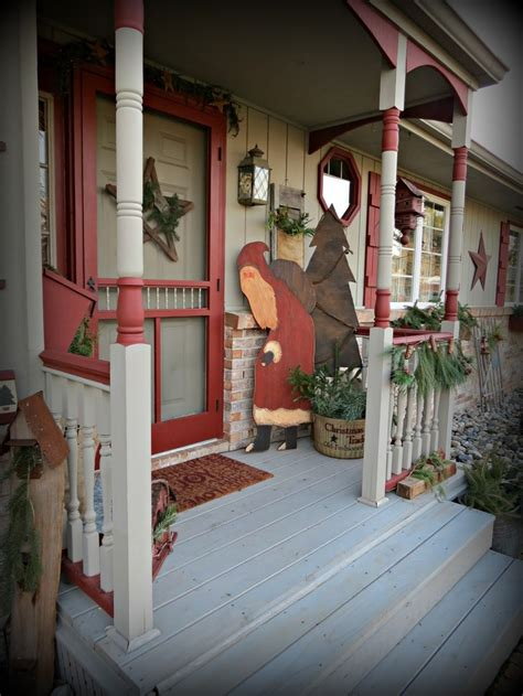 Best Primitive Porches Outside Decor Images