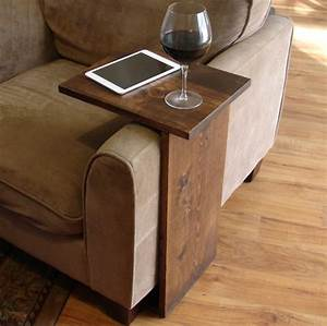 Sofa chair arm rest tray table stand for Sofa tray table