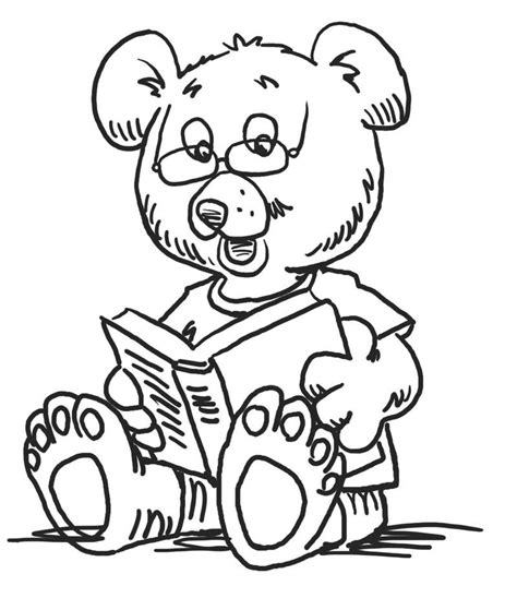 Reading Bear Kindergarten Coloring Pages See the category