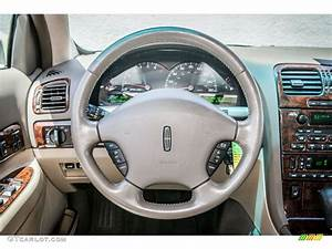 2000 Lincoln Ls V8 Medium Parchment Steering Wheel Photo