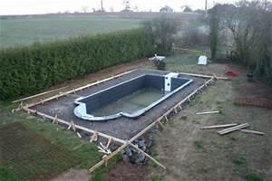 Coffrage Terrasse Beton : coffrage construction de notre piscine ~ Medecine-chirurgie-esthetiques.com Avis de Voitures