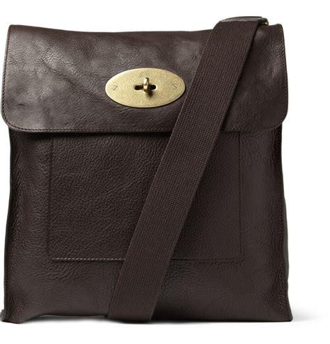 lyst mulberry antony leather messenger bag  brown  men