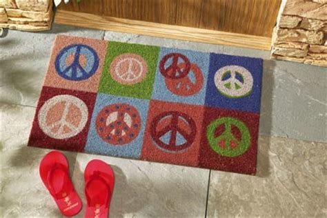 Peace Doormat by Collections Etc Find Unique Gifts At