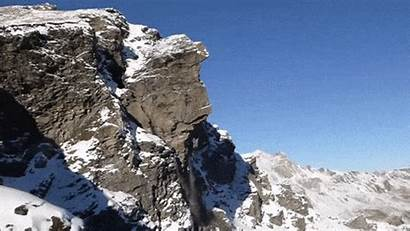 Rockslide Mountain Avalanche Gifs Swiss Stone Giphy