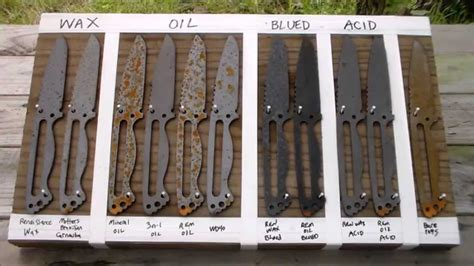 corrosion steel 1095 rust knife test