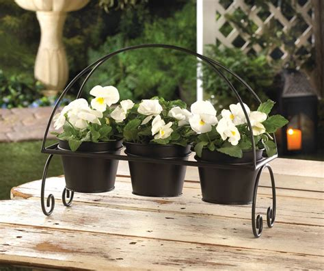 Metal Flower Pots by Crittercreekranch S Booth 187 3 Black Metal Flower Pots And