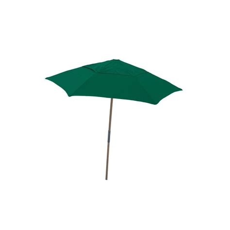 7 5 ft wood patio umbrella with forest green spun