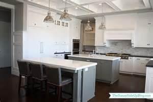gray kitchen island gray kitchen islands transitional kitchen benjamin chelsea gray side up