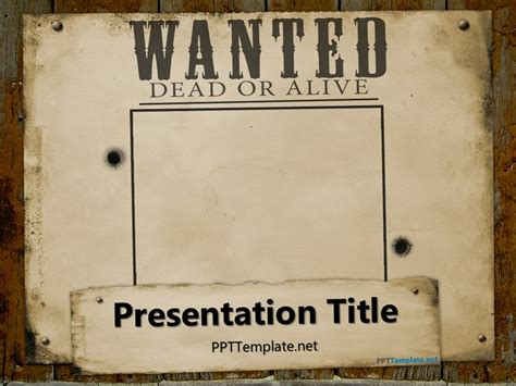wanted dead or alive poster template free free wanted poster template for powerpoint
