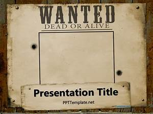 Access Templates 2007 Free Wanted Template For Powerpoint