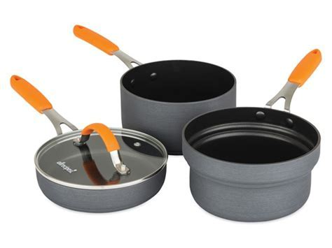 Stackable Hard Anodized 4 Pc Sauce & Fry Pan Set