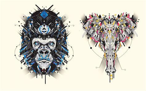 Animal Design Wallpaper - geometric animal wallpaper wallpapersafari