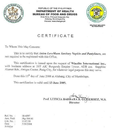 bureau certification bureau of food and drugs philippine certification