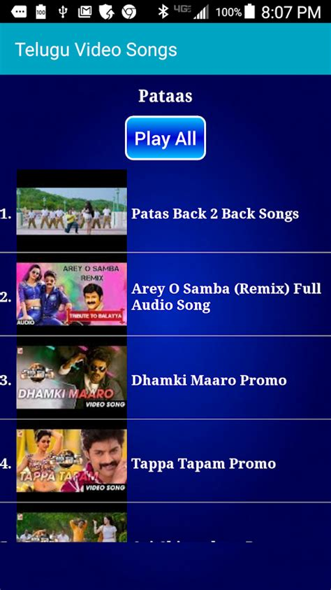 telugu video songs android apps  google play