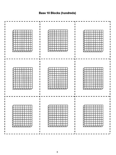 base  blocks hundreds template  printable  templateroller