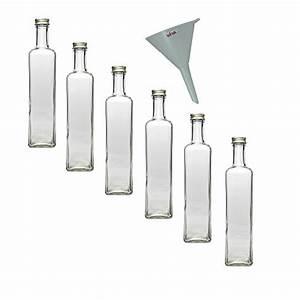 Flaschen Zum Befüllen : 6 x glasflasche 500 ml mit schraubverschluss leere flaschen zum bef llen als lflasche ~ Orissabook.com Haus und Dekorationen