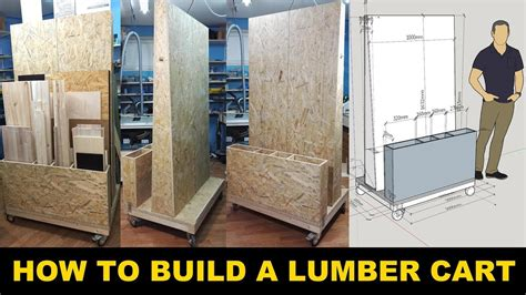 build  lumber storage cart   workshop organized