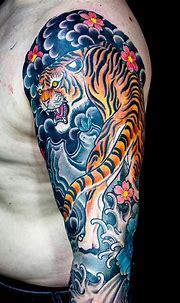 Horisumi | Tiger tattoo sleeve, Sleeve tattoos, Half ...