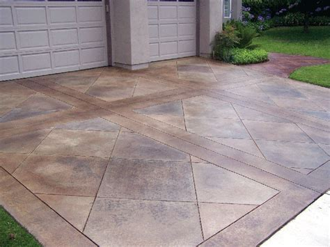 etched concrete front yard