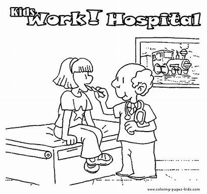 Hospital Coloring Pages Doctor Printable Doctors Jobs