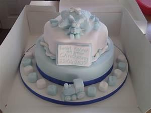 Boys Christening Cake - CakeCentral com