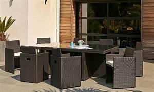 Salon De Jardin Encastrable 8 Places : salon de jardin en r sine tress e haut de gamme ~ Melissatoandfro.com Idées de Décoration