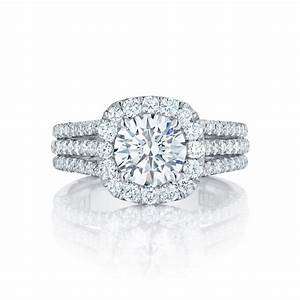 Tacori engagement rings crescent diamond halo for Wedding rings tacori