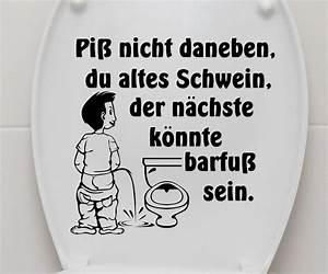 Wandtattoo Wc Sprüche : aufkleber wc deckel piss nicht toilette lustig klo sticker bad spruch 3c003 ebay ~ Markanthonyermac.com Haus und Dekorationen