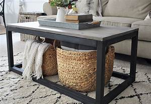 Industrial farmhouse coffee table free plans cherished bliss for Industrial farmhouse coffee table