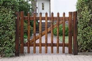 Gartentor Schloss Einbauen : porte de jardin en bois ~ Articles-book.com Haus und Dekorationen