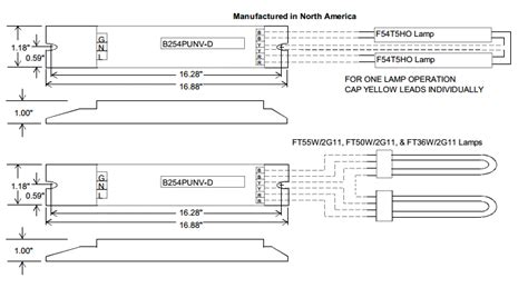 Wiring Diagram For T5 Conversion by Universal Accustart5 B254punvhb D 2 L F54t5ho High Bay