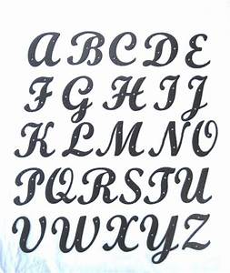 Standard script hammered wrought iron alphabet letters ebay for Wrought iron letters script