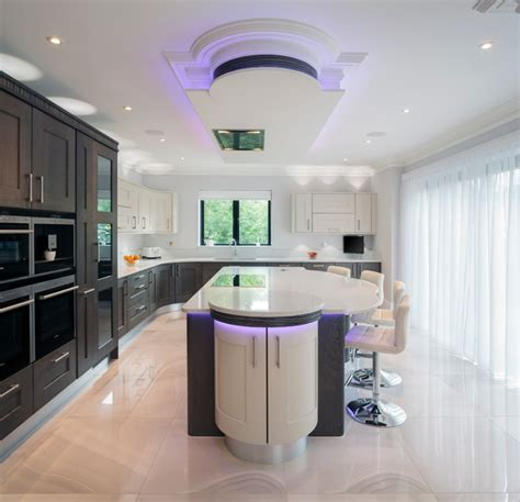 how to light a kitchen tate anthracite and mussel oak with black white zebrano 7276