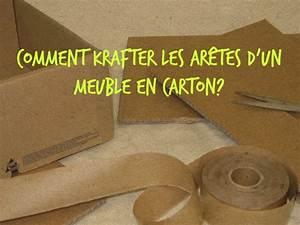 comment krafter les aretes d39un meuble en carton With comment fabriquer un meuble en carton