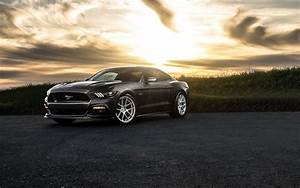 Wallpaper Ford Mustang 2015, black car, dusk 1920x1200 HD Picture, Image