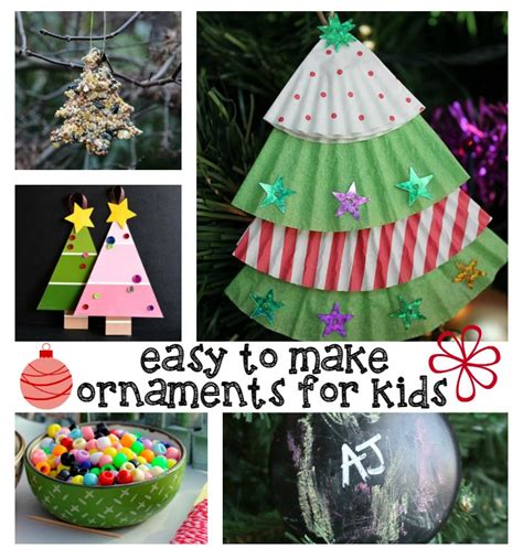 christmas decorations for kids to draw easy ornaments for