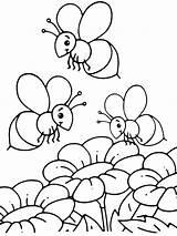 Bee Flower Drawing Coloring Bees Pages Beehive Getdrawings sketch template