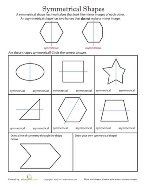 these symmetry worksheets illustrate that a symmetrical