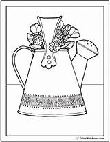 Coloring Bouquet Pages Flower Watering Water Garden Pdf Colorwithfuzzy sketch template