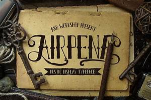 airpena rustic display font free design resources With rustic lettering alphabet