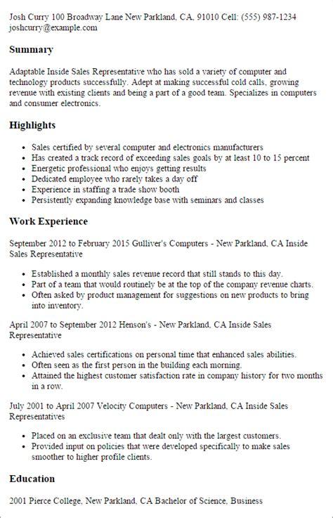 professional  sales representative templates