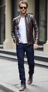 Picture Of casual menu2019s look with a jacket