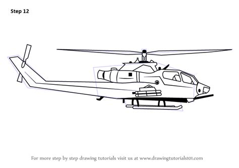 learn   draw  military helicopter military step