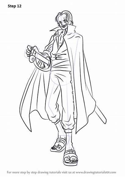 Piece Shanks Draw Step Drawing Anime Manga