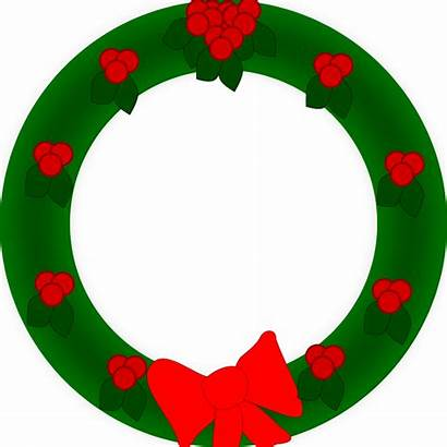Wreath Clip Christmas Border Holiday Clipart Clipground