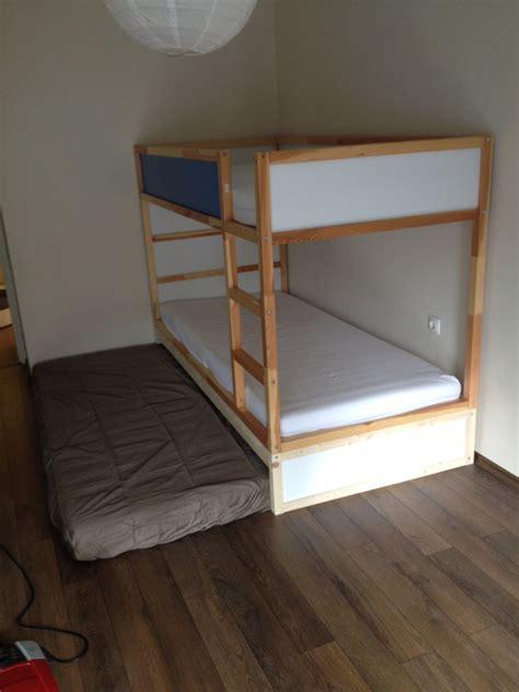 boys space room ikea kura bunk bed bed sleeps 3