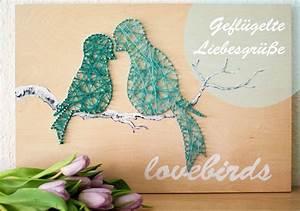 Fadenbilder Mit Nägeln Vorlagen : liebesgr e mit string art handmade kultur ~ Watch28wear.com Haus und Dekorationen