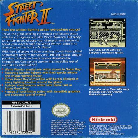 Street Fighter Ii Box Shot For Game Boy Gamefaqs