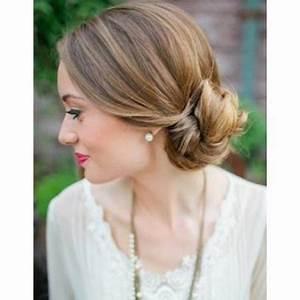 Chignon Cheveux Mi Long : idee chignon mariage cheveux mi long ~ Melissatoandfro.com Idées de Décoration