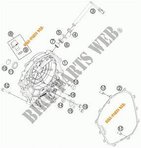 Clutch Cover For Ktm 200 Duke Orange Abs 2013   Ktm